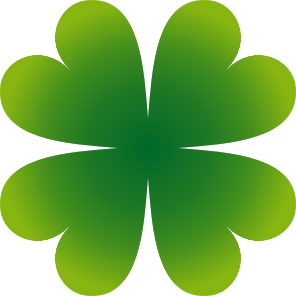 600x600 Four Leaf Clover 4 Leaf Clover Clipart Four Clipartix