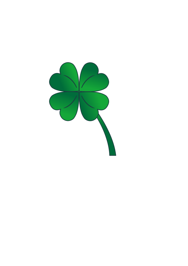 636x900 Four Leaf Clover 4 Leaf Clover Clipart Four Clipartix 2