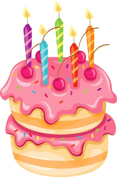397x600 Birthday cake clipart png