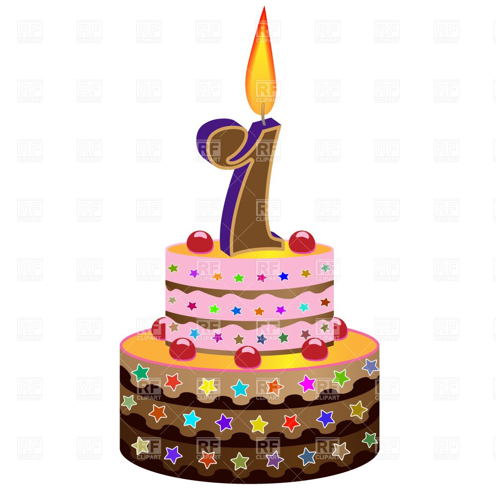1000x1000 Brown Clipart Birthday Cake