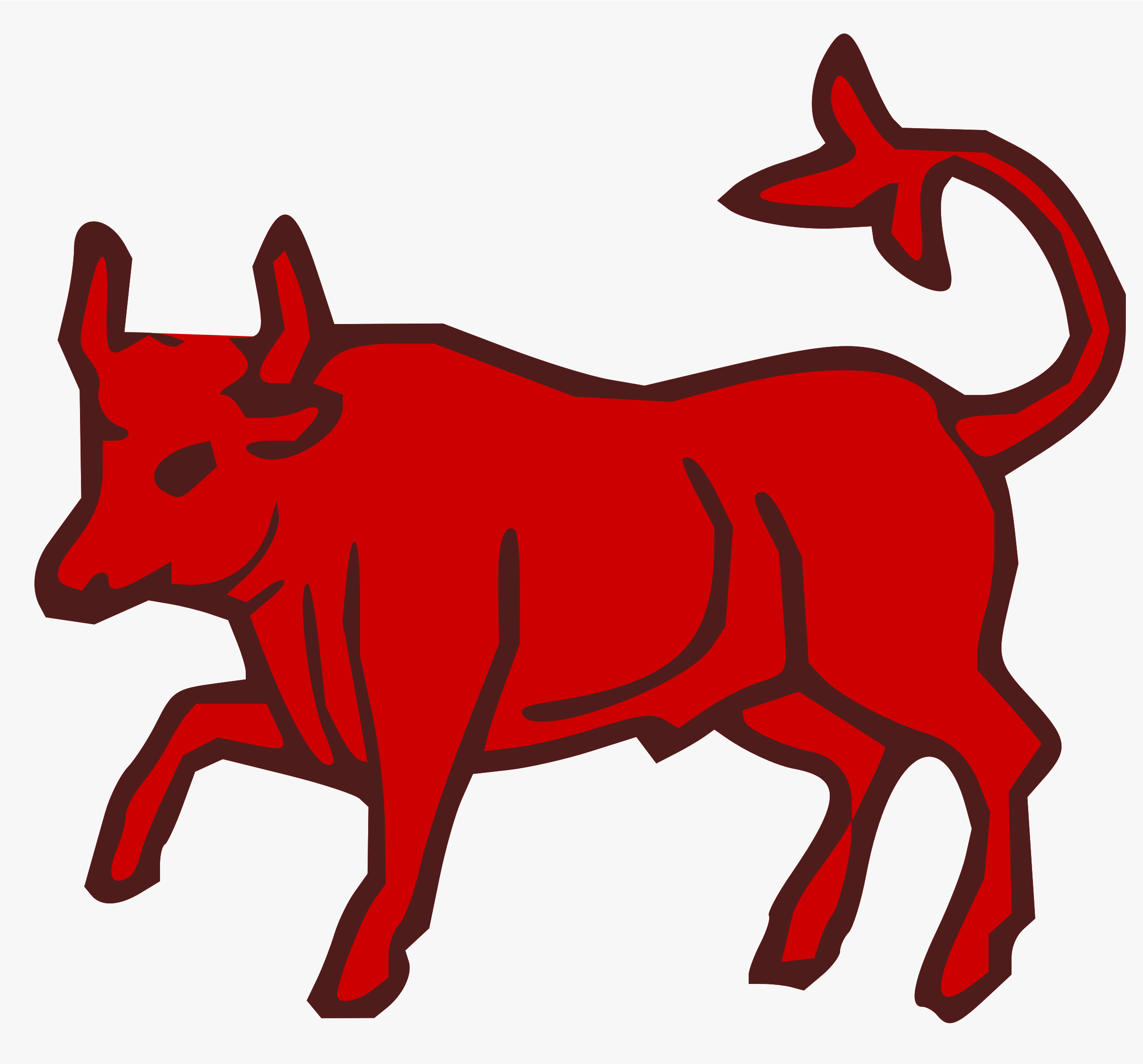 2400x2233 Bull Clipart Red Bull