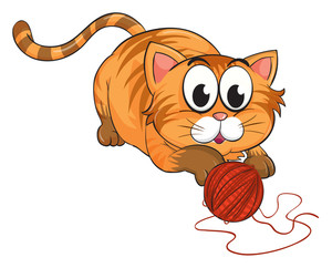 300x242 Illustration Of A Cat. Royalty Free Stock Image