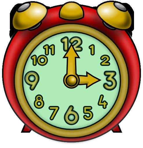 493x511 Cartoon Clock Clipart