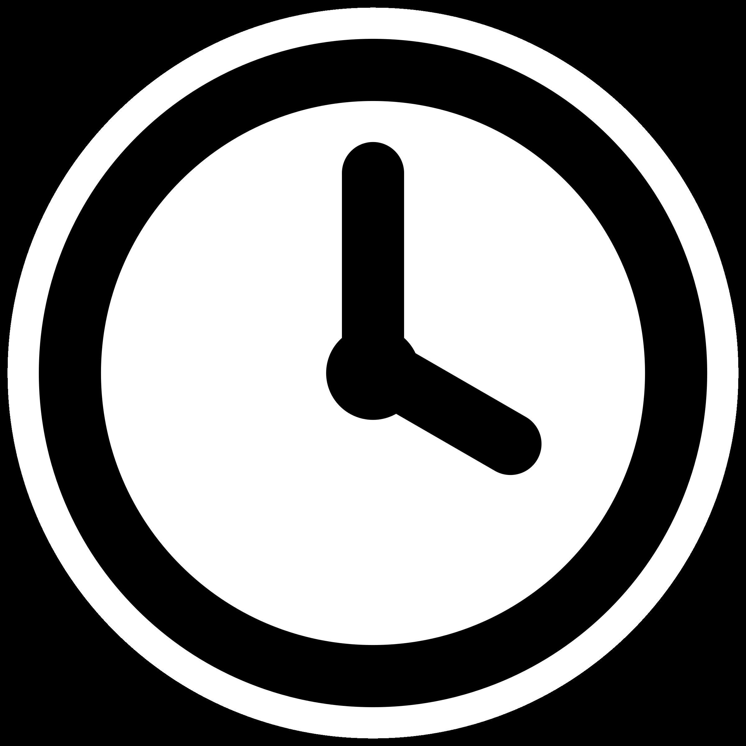 2400x2400 Clipart Mono Clock