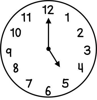 342x350 Clock Clipart 1 Hour