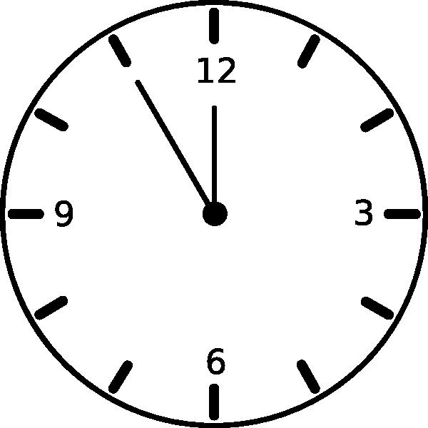600x600 Clock Clipart Animation