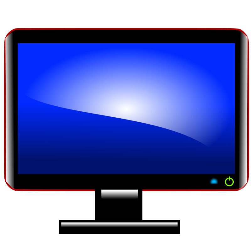 800x800 Free Computer Monitor Clipart Image