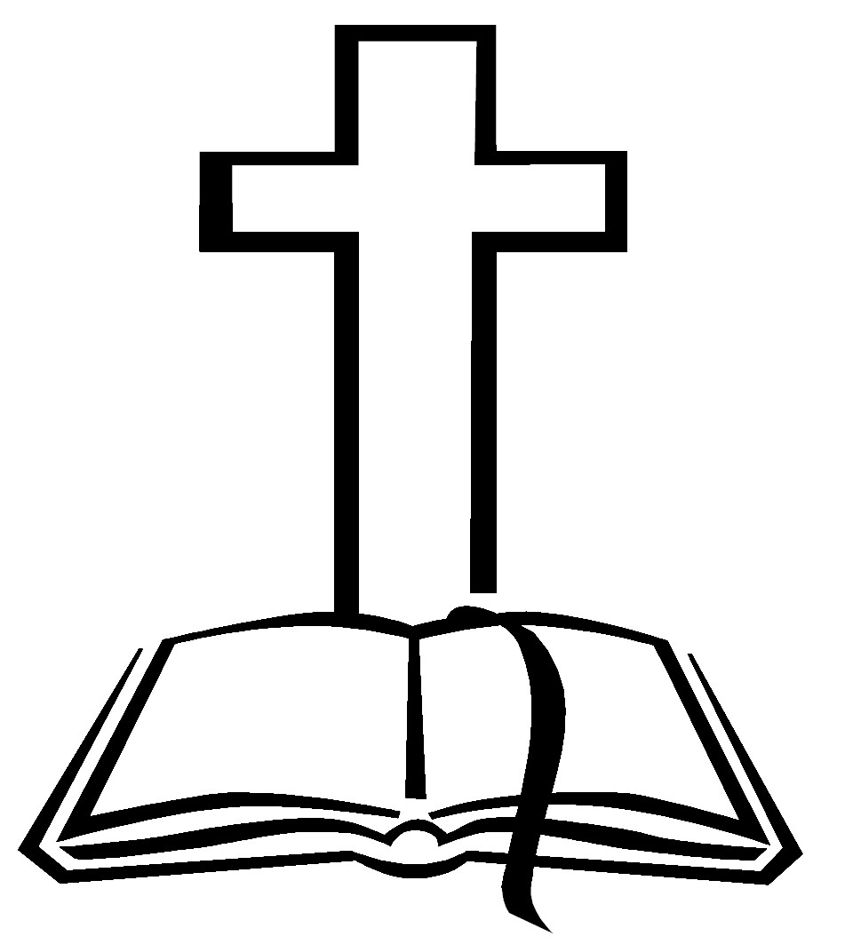 951x1063 Open Bible With Cross Clip Art