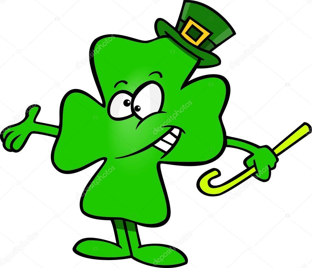 1024x879 Cartoon Four Leaf Clover Shamrock Stock Vector Ronleishman