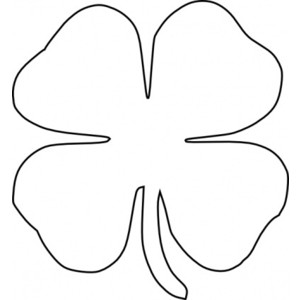 300x300 Four Leaf Clover Clipart Black And White