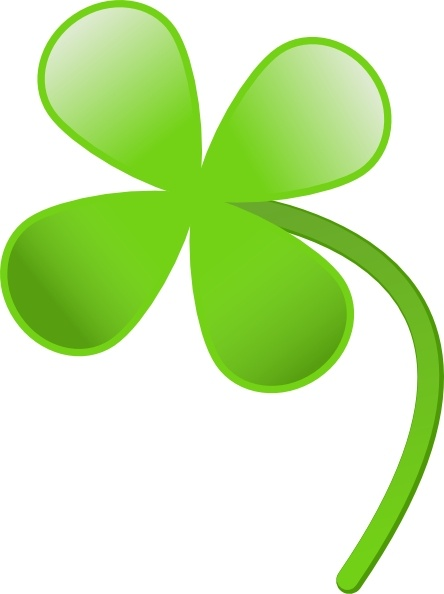 444x594 Four Leaves Clover Clip Art Free Vector In Open Office Drawing Svg
