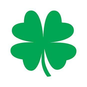 350x350 Glitter Four Leaf Clover Temporary Tattoo For Irish Luck
