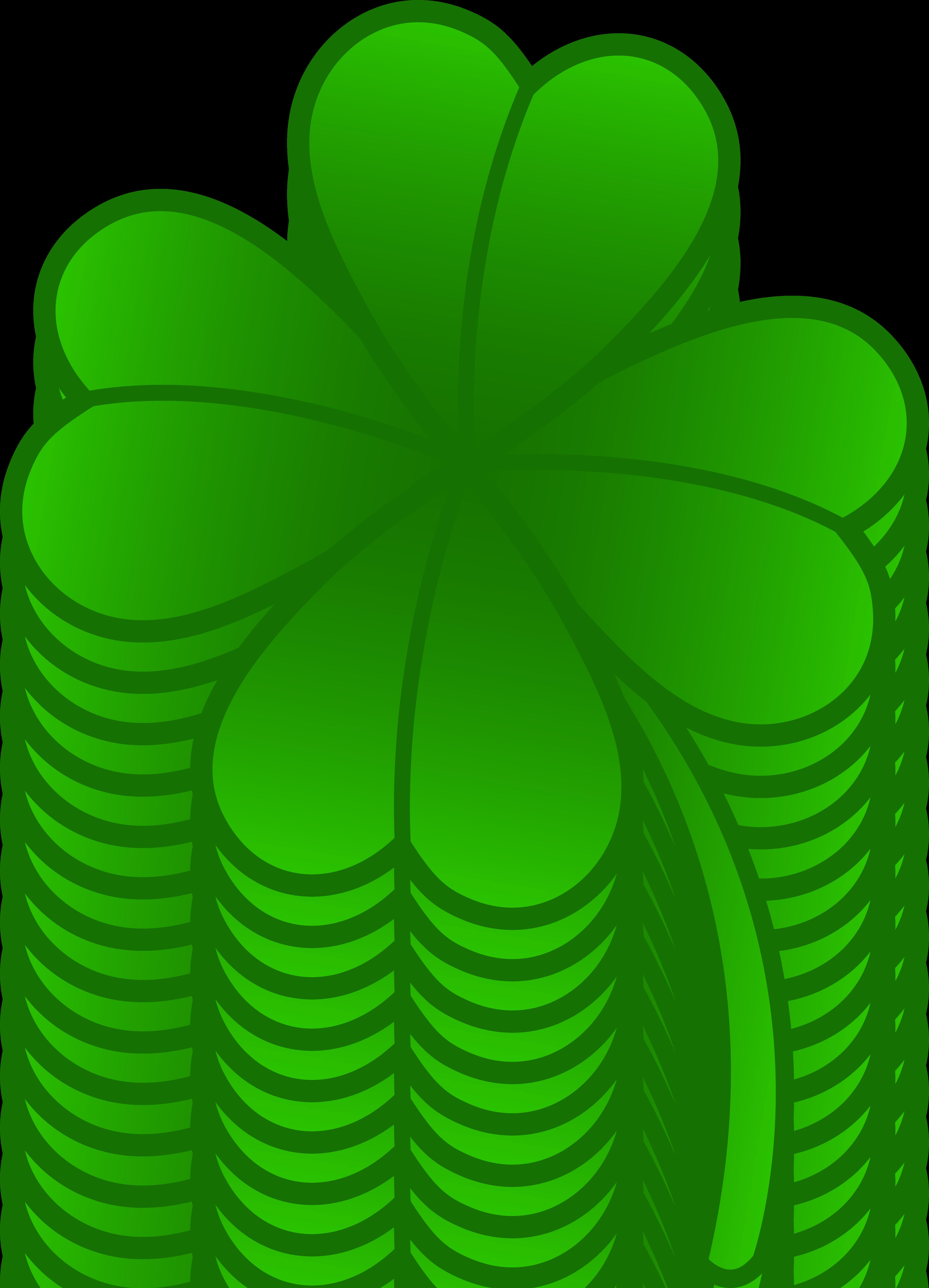 4865x6742 Green Four Leaf Clover