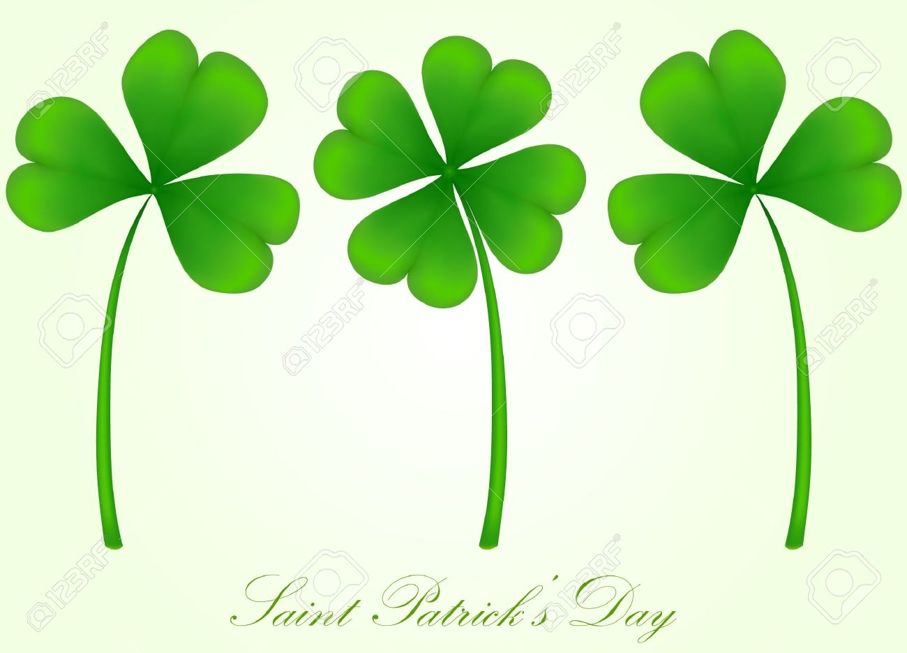 1300x936 Vector Set Of Three And Four Leaf Clover Royalty Free Cliparts
