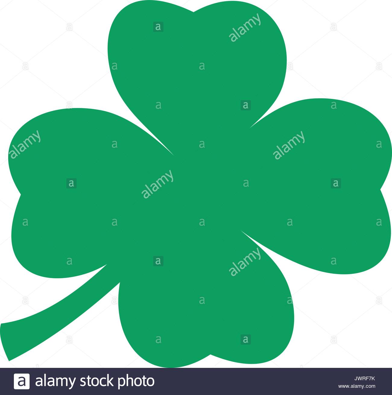 1300x1310 A Green Silhouette Of A Four Leaf Clover Stock Vector Art