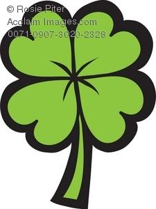 225x300 Art Illustration Of A Four Leaf Clover