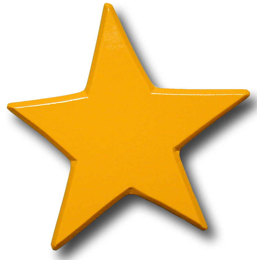830x839 Gold Star Clipart