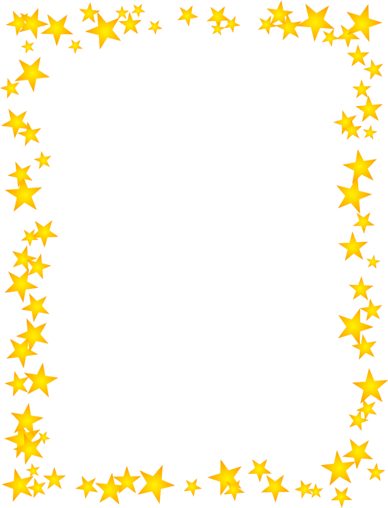 756x990 Gold Star Border Dromhja Top Clipart Image