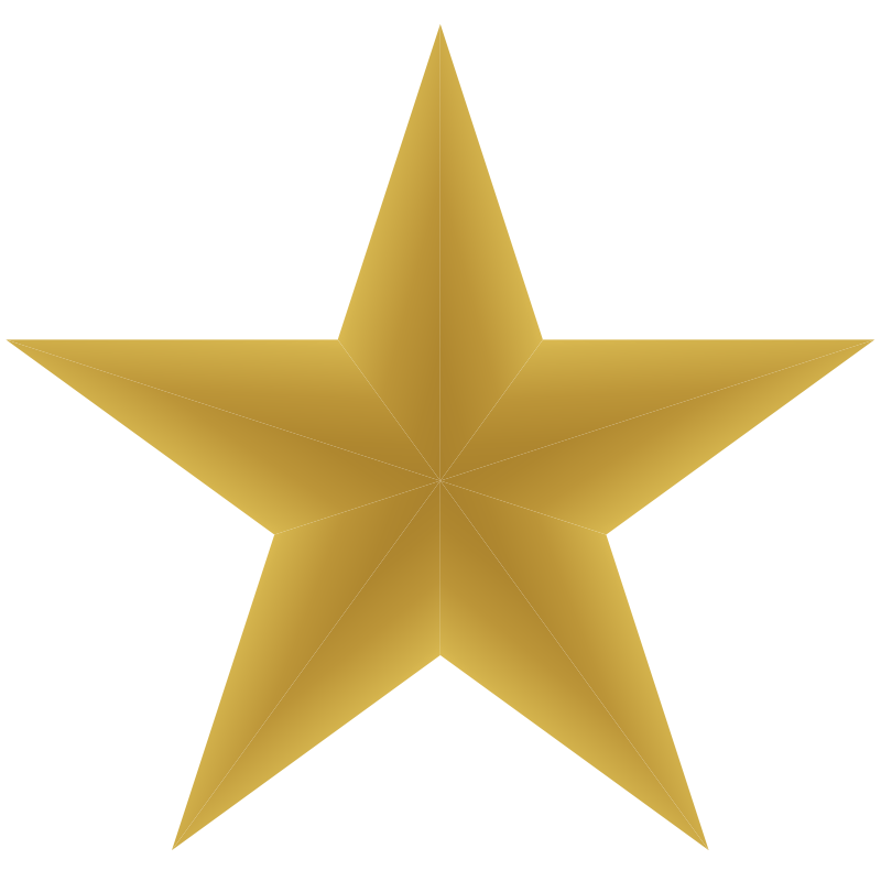 800x800 Dark Gold Star Clipart