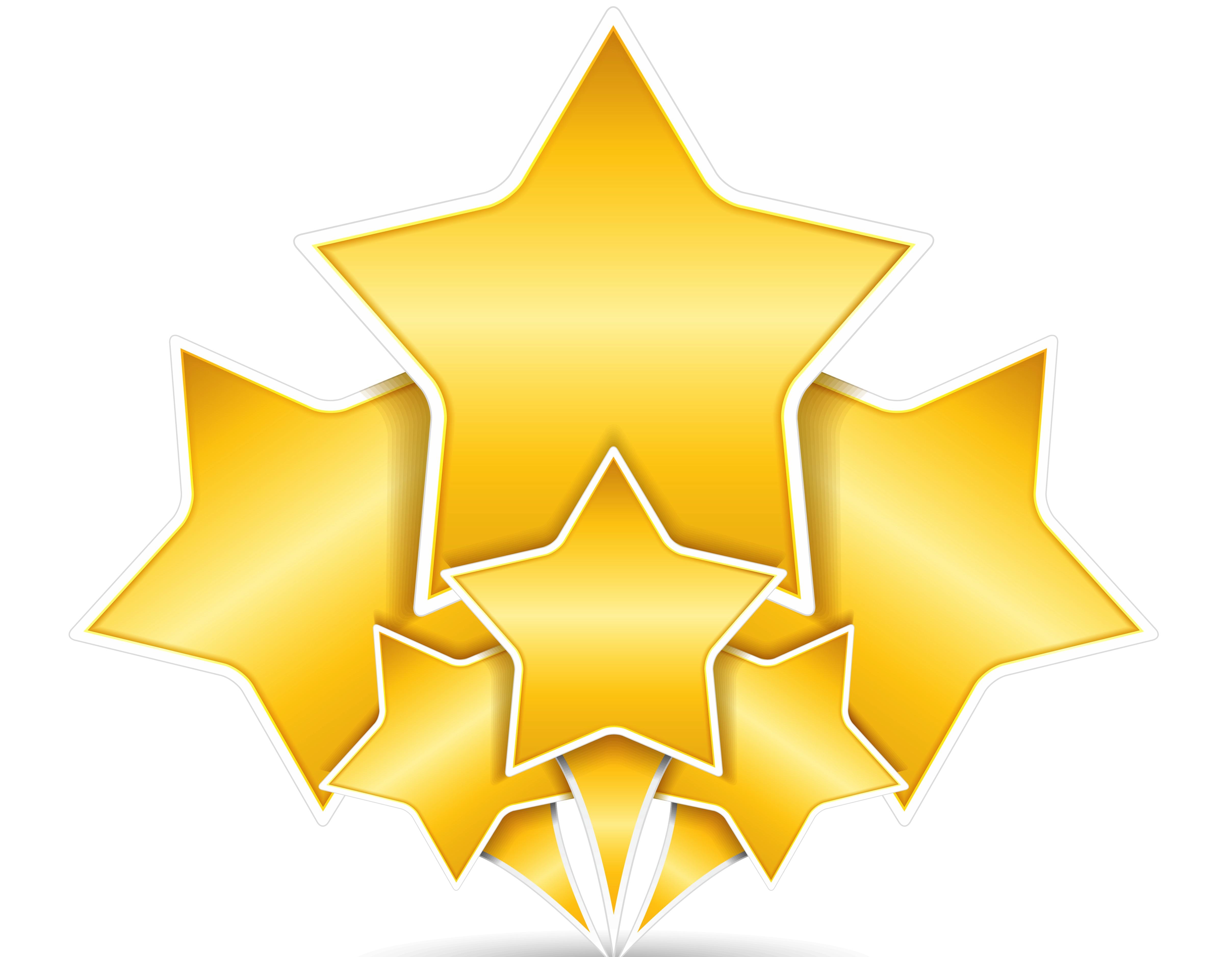 4832x3754 Star Award Clipart
