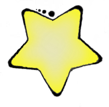 350x342 Free Gold Star Clipart Image