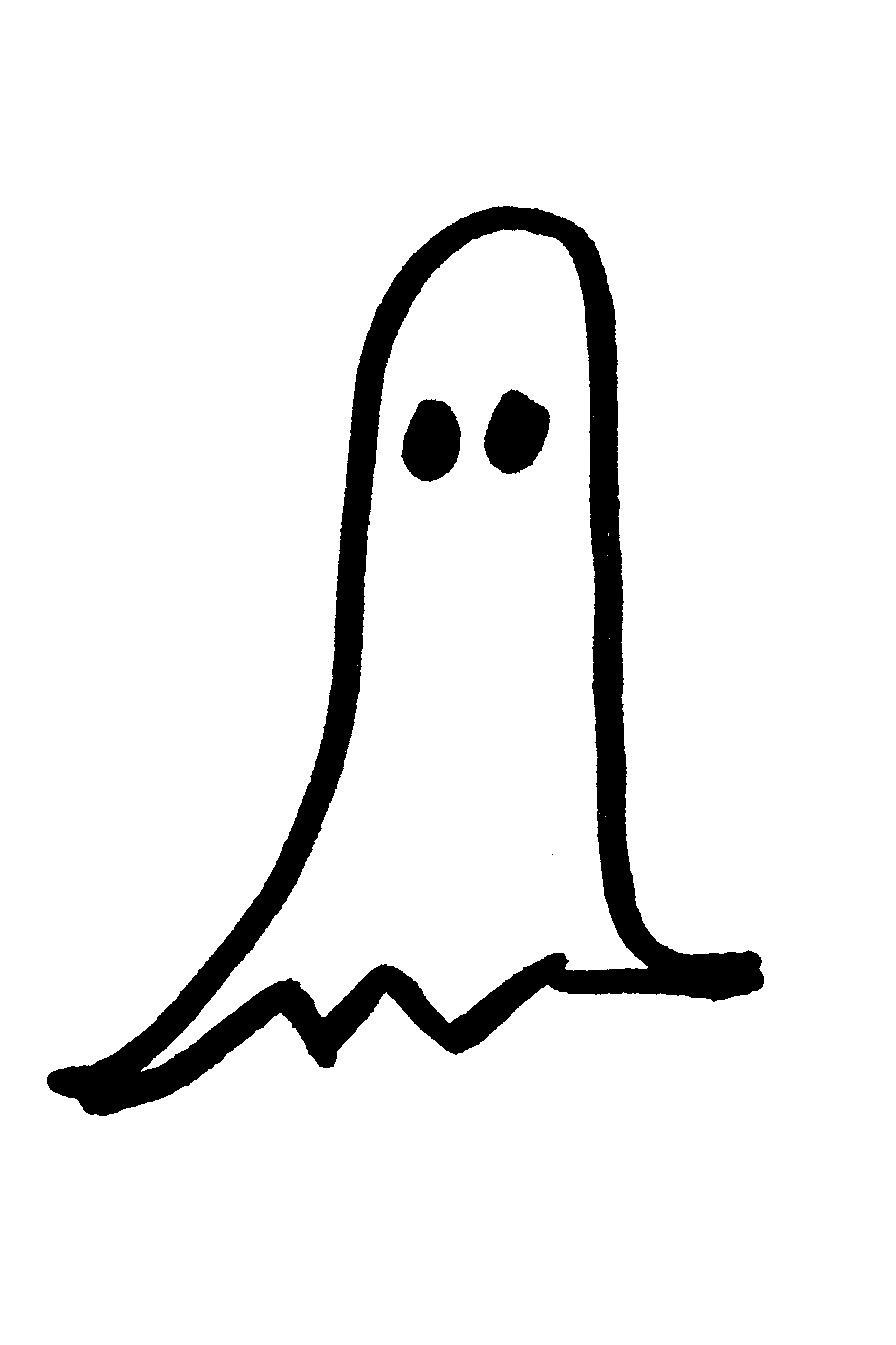 2592x3888 Halloween Ghost Hand Drawn Clip Art Picture Free Photograph