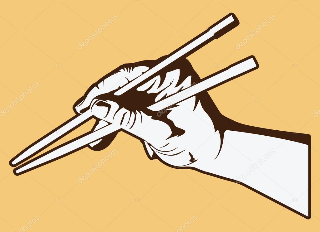 1023x744 Hand Holding Chopsticks Stock Vector Jrmurray76