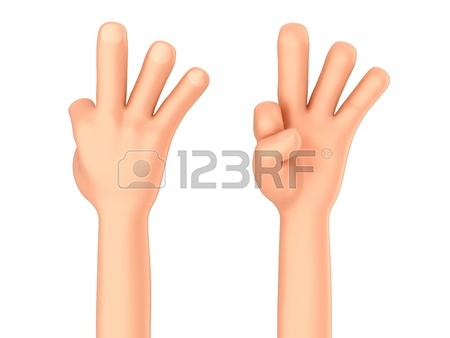 450x338 3d Render Of A Hand Showing One Finger Or Pointing Stock Photo