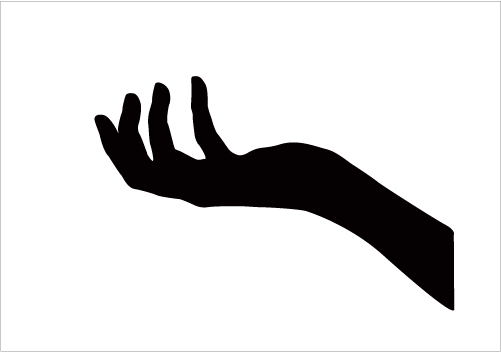 501x352 Hand Silhouette Silhouette Graphics