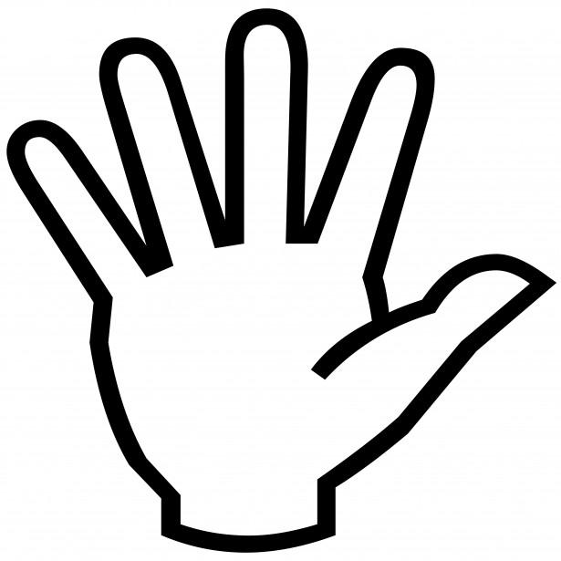 615x615 Hand Symbol Silhouette Free Stock Photo