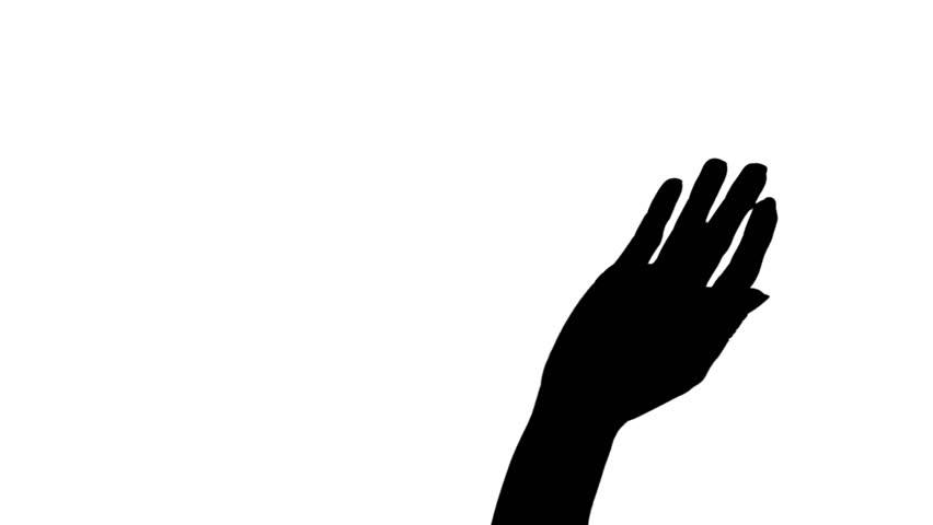 852x480 Hand Waving Silhouette