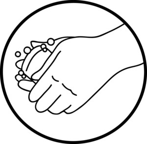 300x293 Hand Black And White Kids Hand Clipart Black And White Free