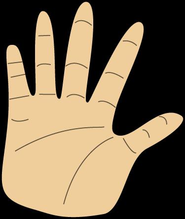 375x444 Left Hand Clipart