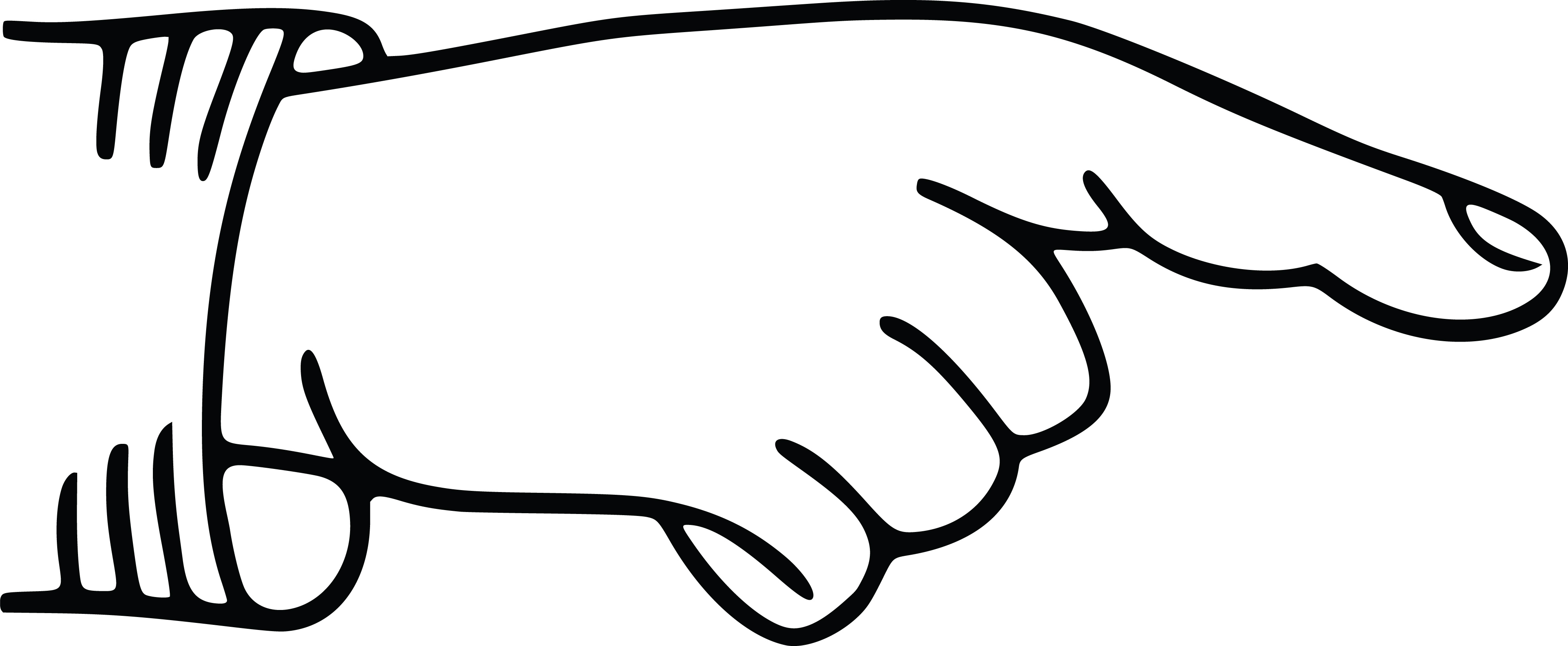 4000x1649 Clipart Of A Hand Pointing A Finger, Black White