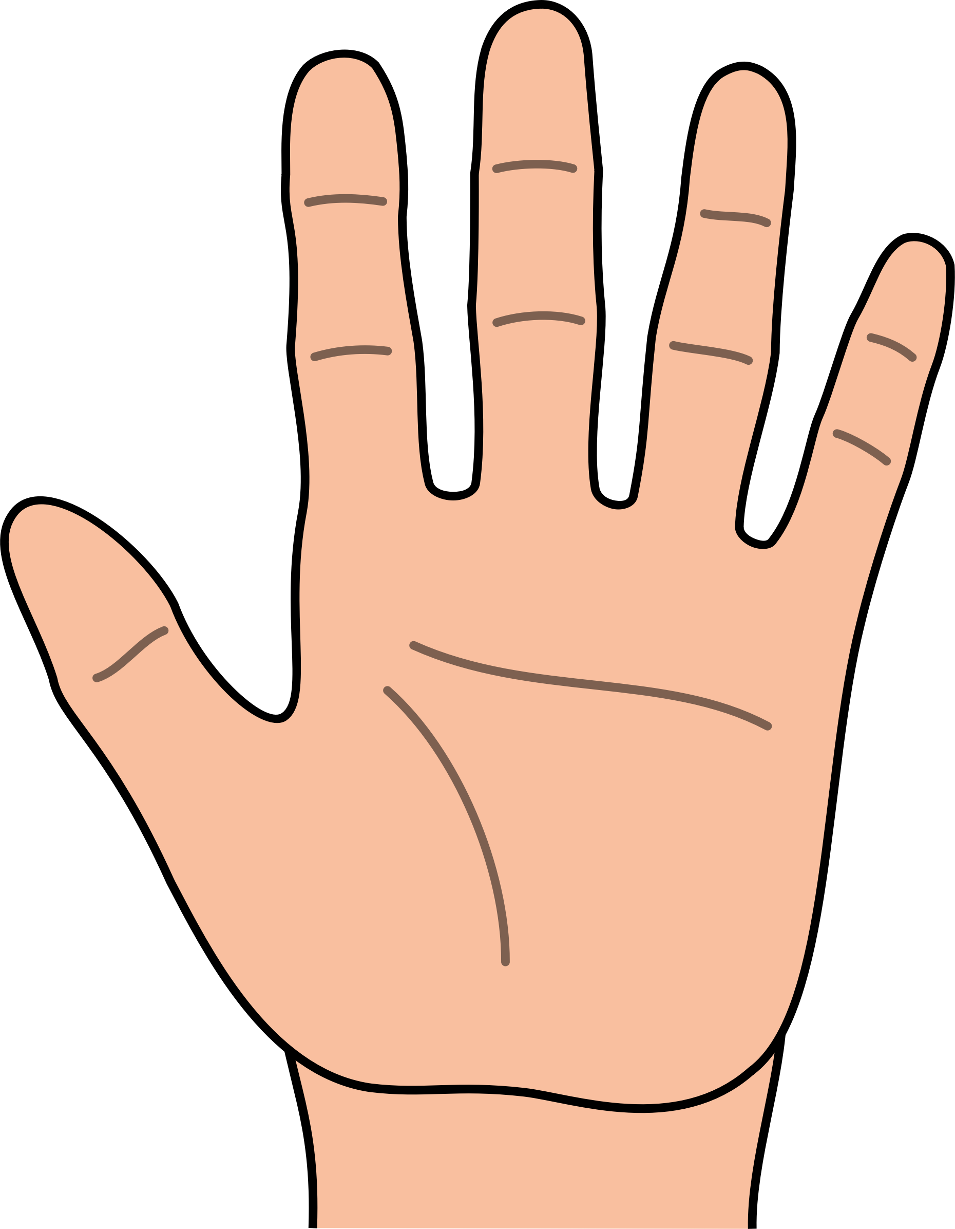 1860x2392 Clipart Of A Hand