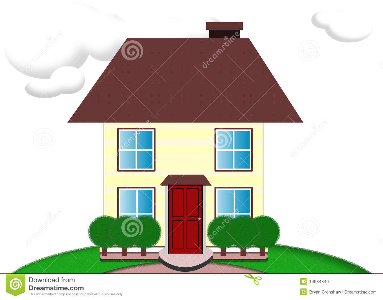 1300x1018 Cute House Clipart