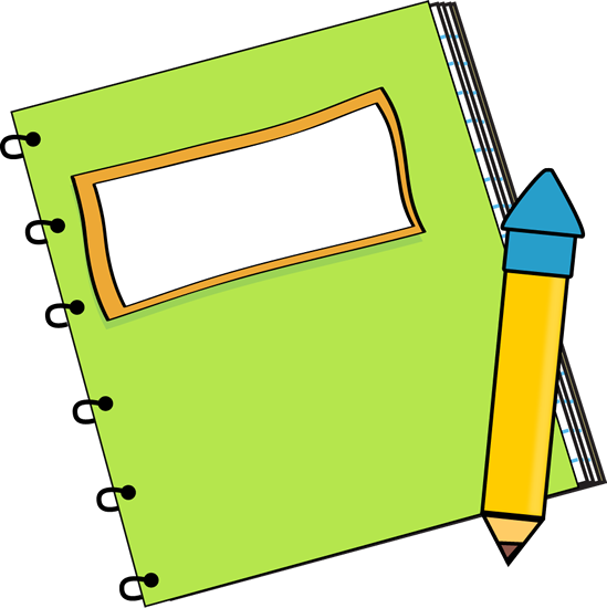 549x550 Green Notebook With A Pencil Clip Art
