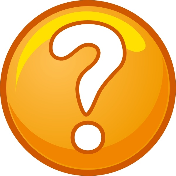 600x600 Office Clipart Question Mark