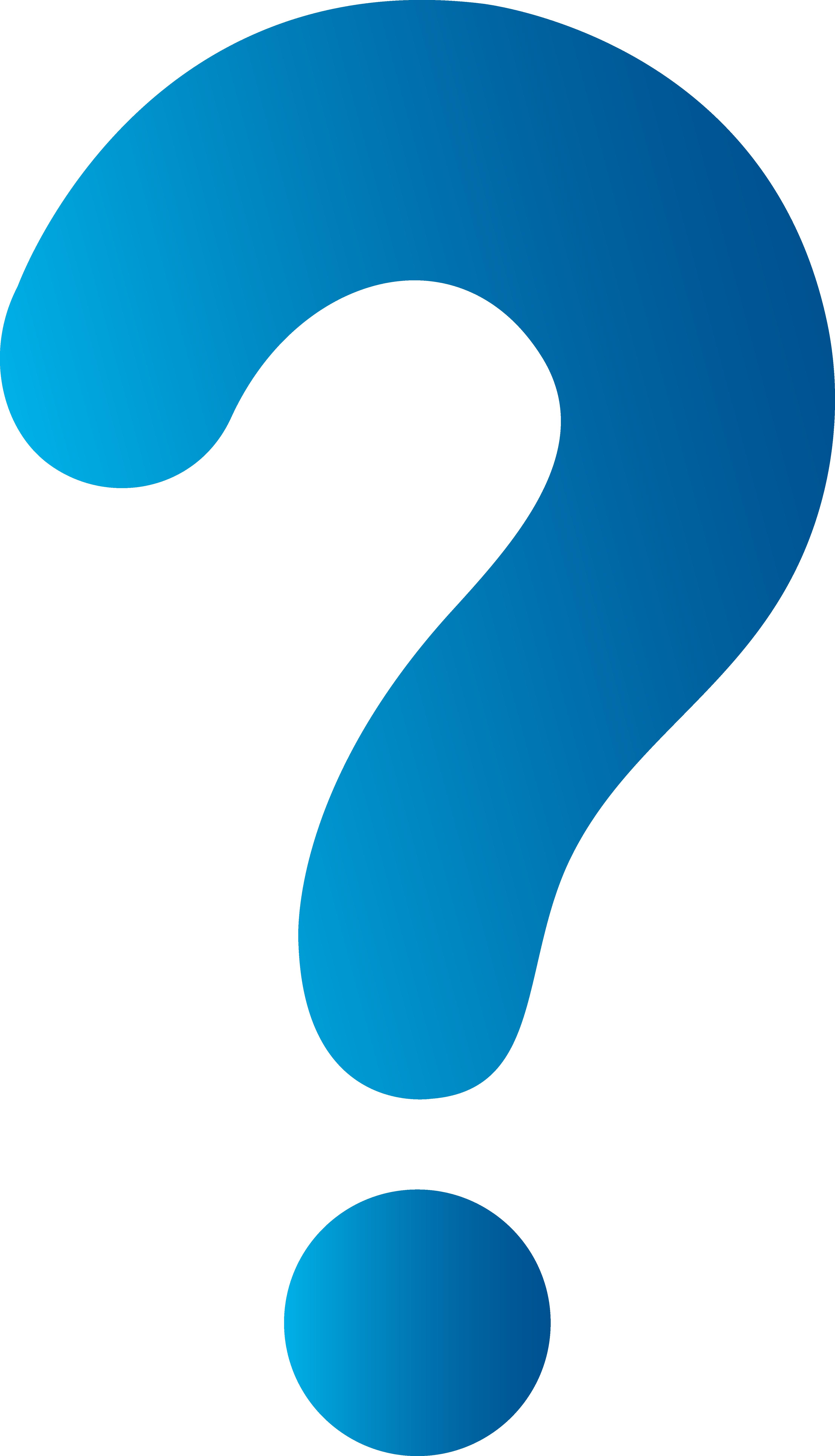 4429x7723 Simple Blue Question Mark
