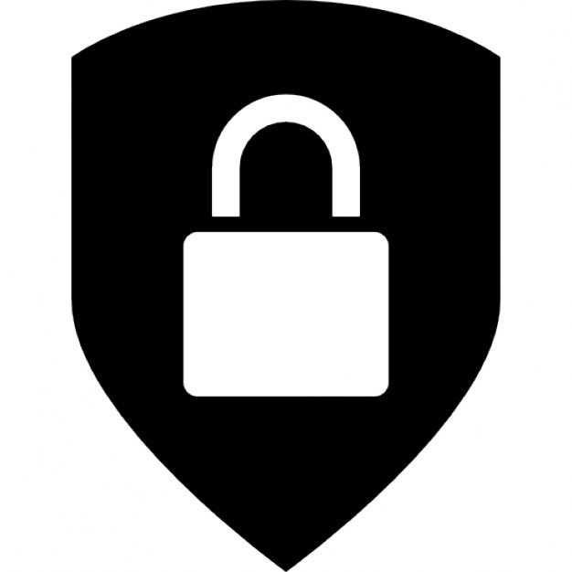 626x626 Security Interface Symbol Of Locked Padlock In A Shield Icons