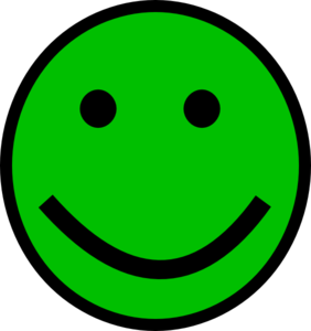 282x300 Green Smiley Face Clip Art