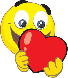 262x300 Valentine Smiley Face Clipart