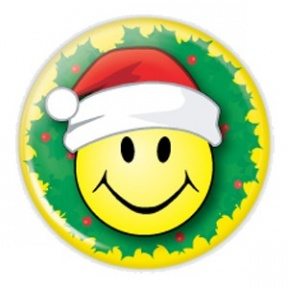 288x288 Santa Smiley Face Clipart