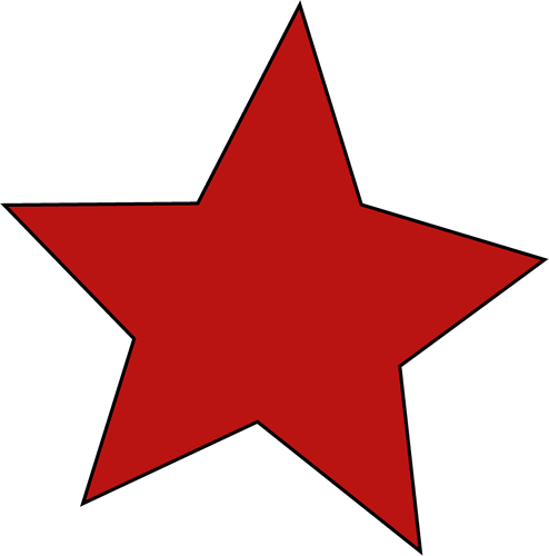 494x500 Red Star Clip Art