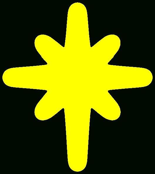 528x594 Shining Star Clip Art