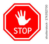 167x150 Hand Stop Sign Clipart