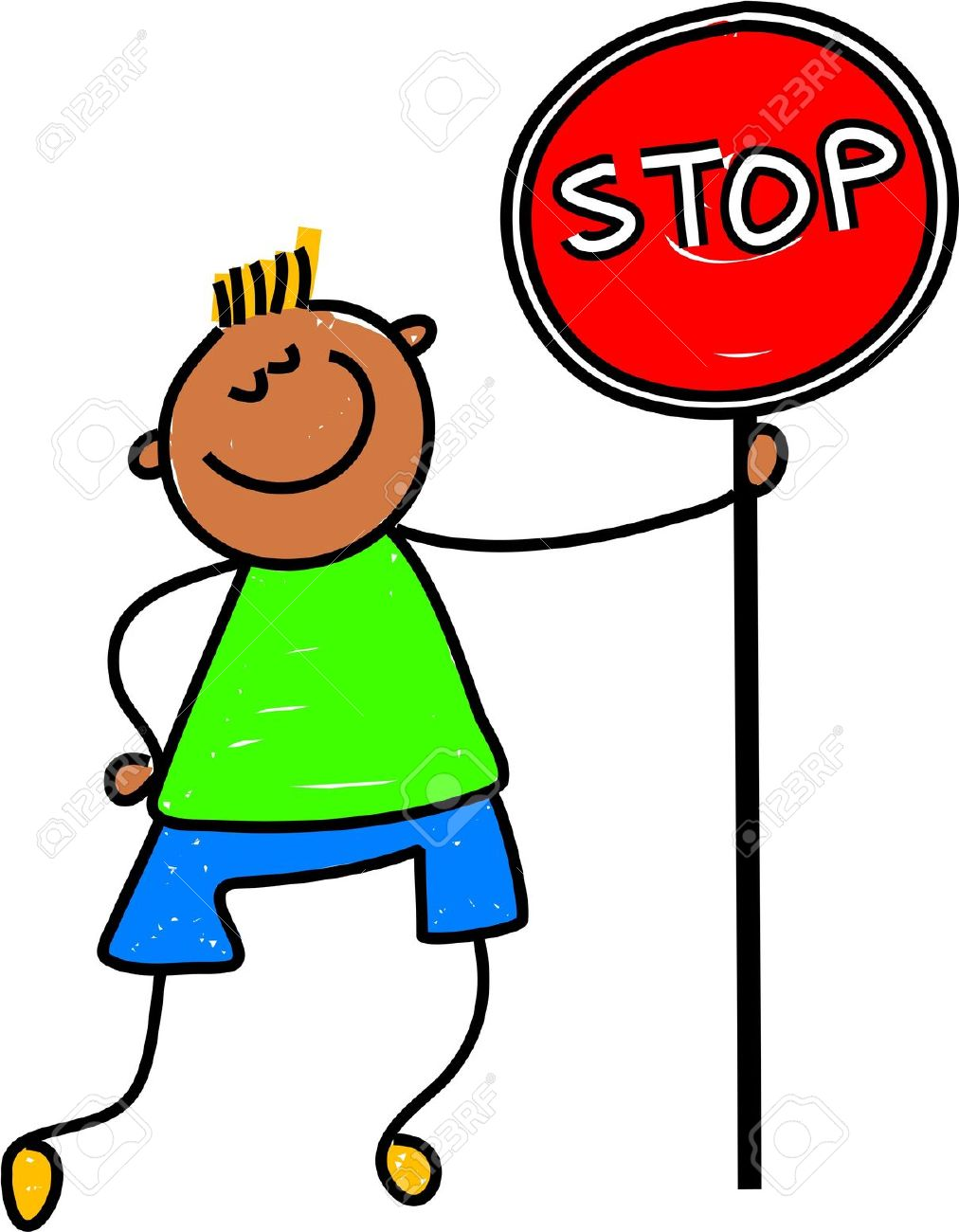 1012x1300 Boy Holding Stop Sign Clipart