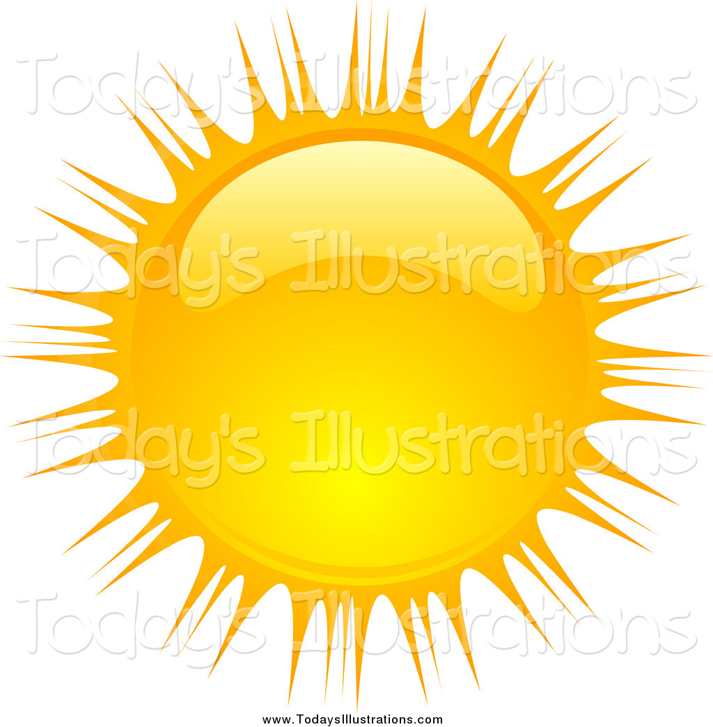 1024x1044 Clipart Of A Beaming Shiny Summer Sun By Kj Pargeter
