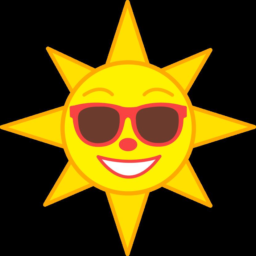 830x832 Happy Sun Clipart 8