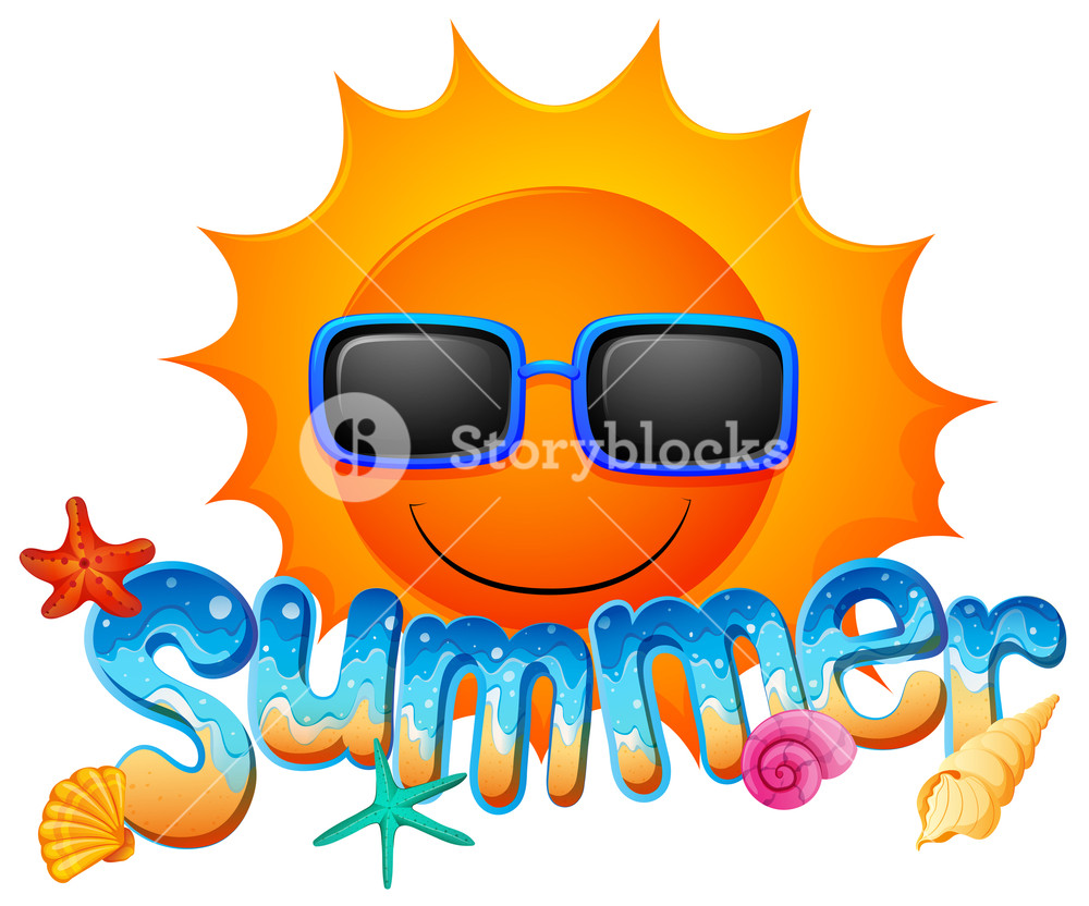 1000x832 Illustration Of A Summer Artwork With A Sun On A White Background